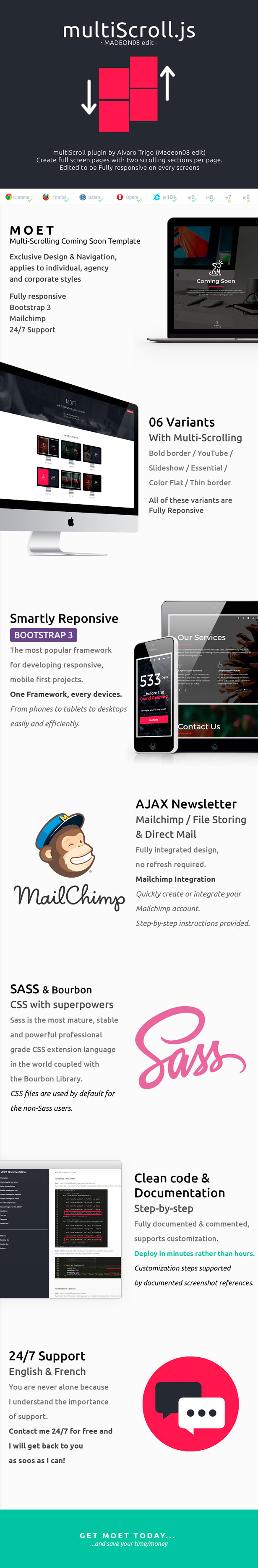 MOET - Multi-Scrolling Coming Soon Template
